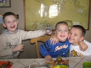 Calvin, Brady and Andrew