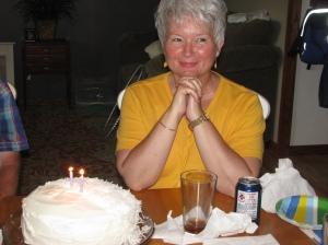 rhonda with cake