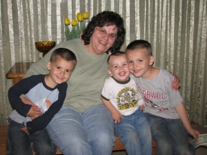 This was posted not too long ago, but it's my new favorite of my mom and my boys.