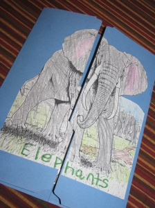 elephant lapbook cover