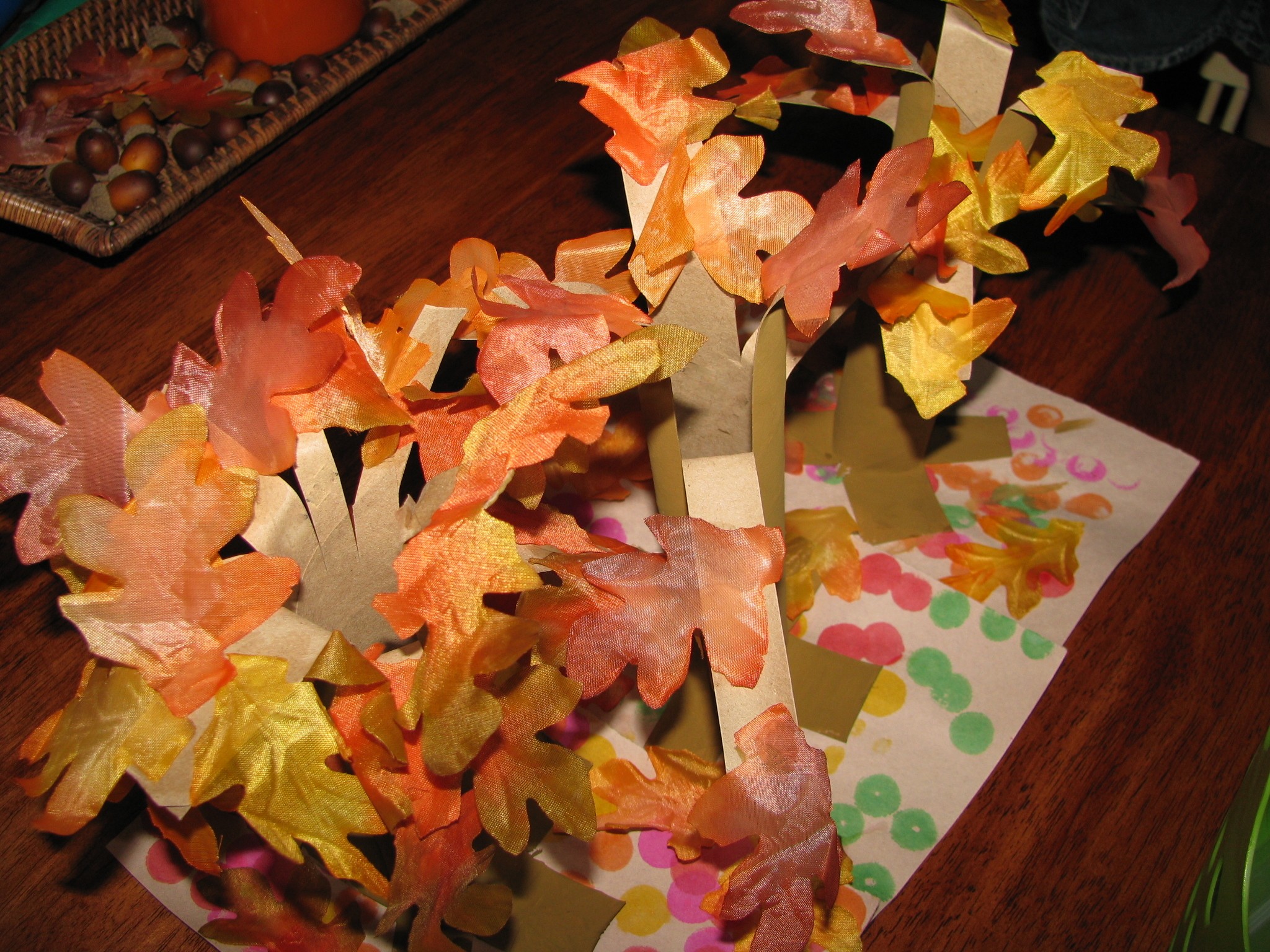 Paper Towel Roll Fall Tree Craft Preschool Crafts For Kids