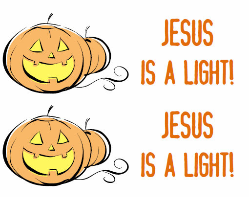 jesus is a light halloween