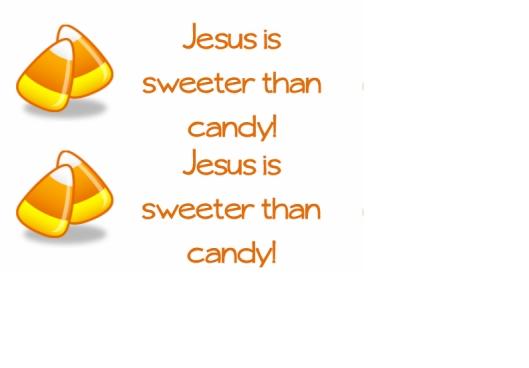 jesus candy halloween